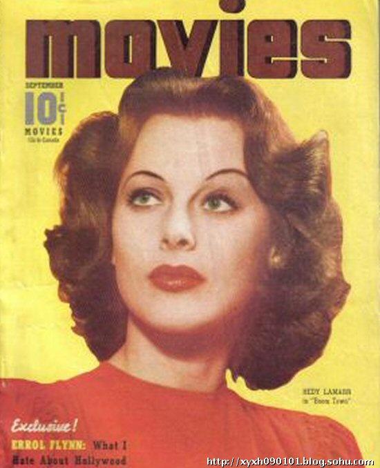 海蒂拉玛一生在娱乐杂志封面出现已经是司空见惯.