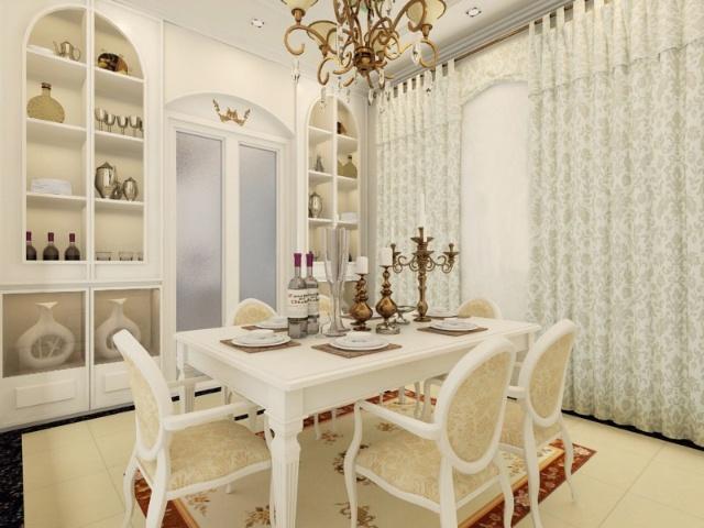 卓尔装饰   餐厅 欧式风格 装修效果图   书房 欧式风格