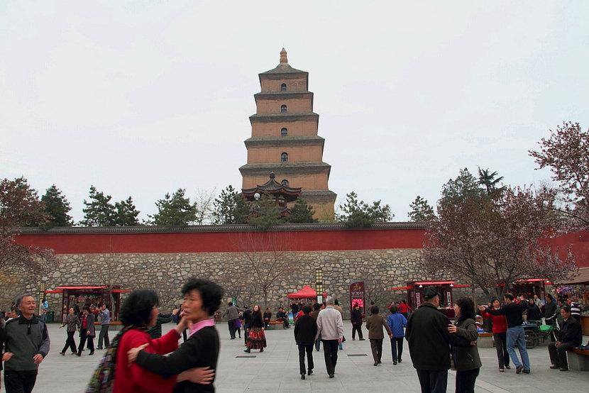 逛西安——大雁塔,开元广场