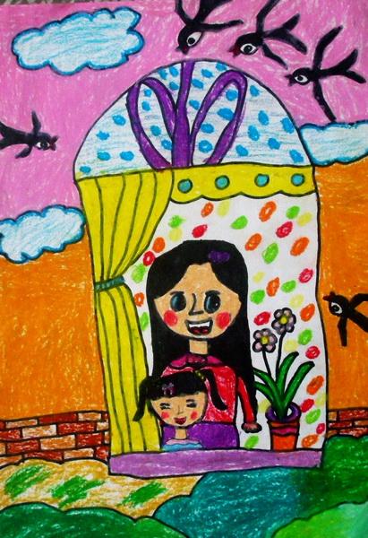 """""""家乡美""""学生绘画获得一等奖的作品展(一)-海安实小三年级部-搜狐博客图片"""