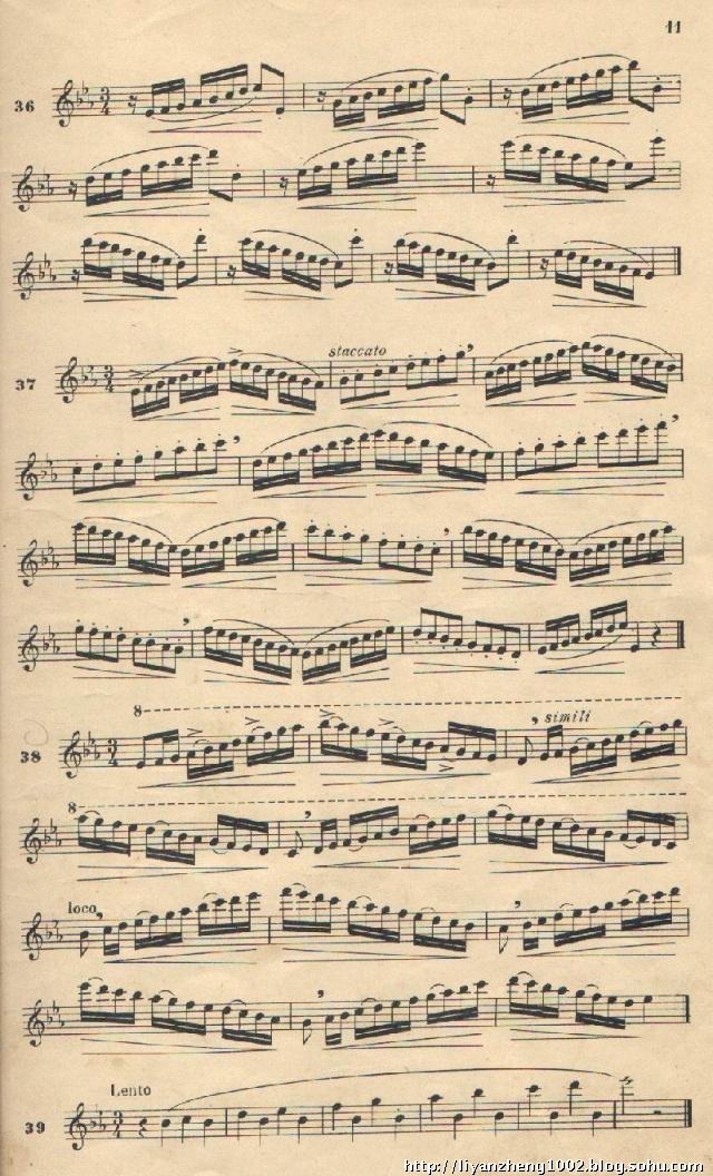 降b调乡音乡情钢琴谱-降E大调指法练习