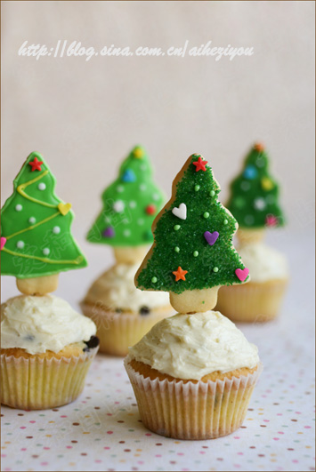 圣诞树杯子蛋糕(9款圣诞点心)