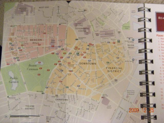 地图上的波士顿