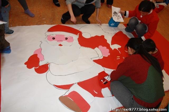 圣诞老人粘贴画