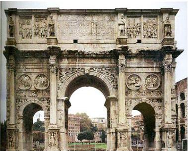 发展了古希腊柱式的构图,使之更有适应性.图片
