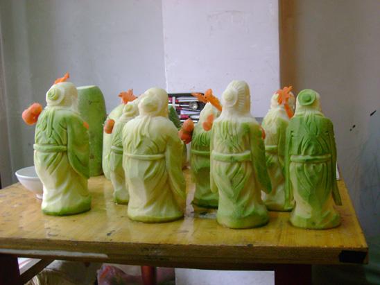 学生雕的寿星-罗家良食品雕刻教室-搜狐博客