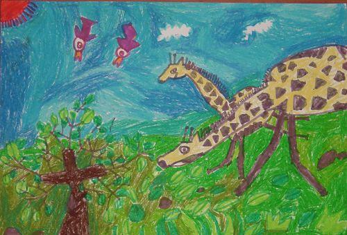 第二阶段:水彩笔(幼儿园中班) 1 ,快乐的大树     大树是我们的