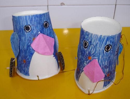 纸杯子做手工动物图片