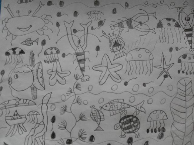 今天我们的作品,海底动物世界