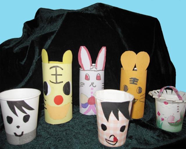 本节手工制作有老虎,小兔子,纸杯娃娃,小花篮等多
