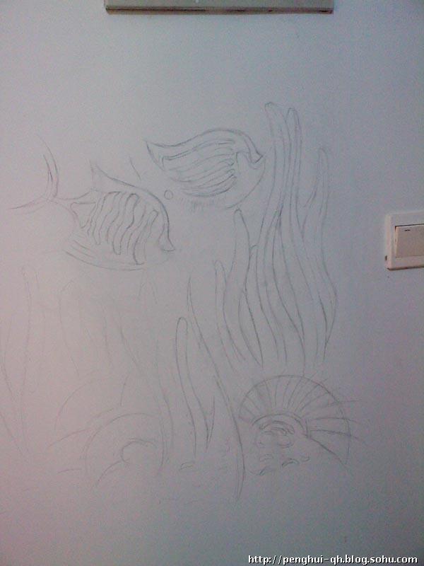 手绘墙面装饰画 黑白装饰画作品手绘 手绘装饰画-点线面黑白装饰画风