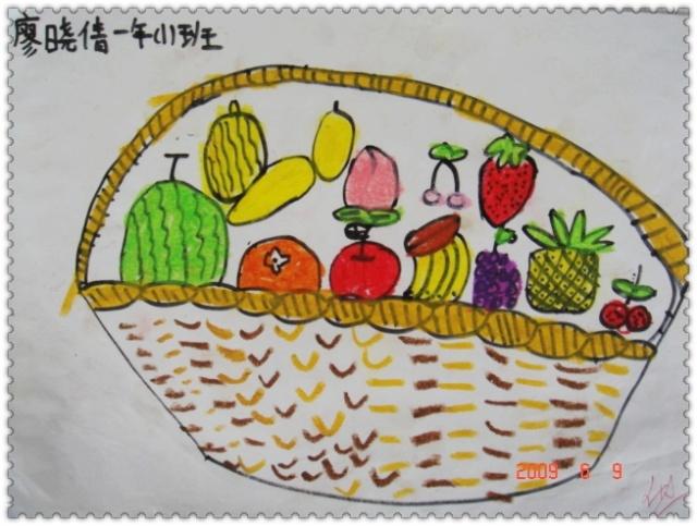 小宝宝做水果贴画图