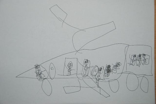 小朋友的画简单明了直接