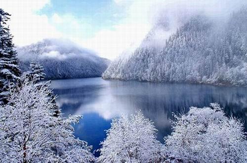 藏族冬季风景图片大全