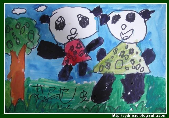 """早期艺术入门班---水粉画--- 国宝""""小熊猫"""""""