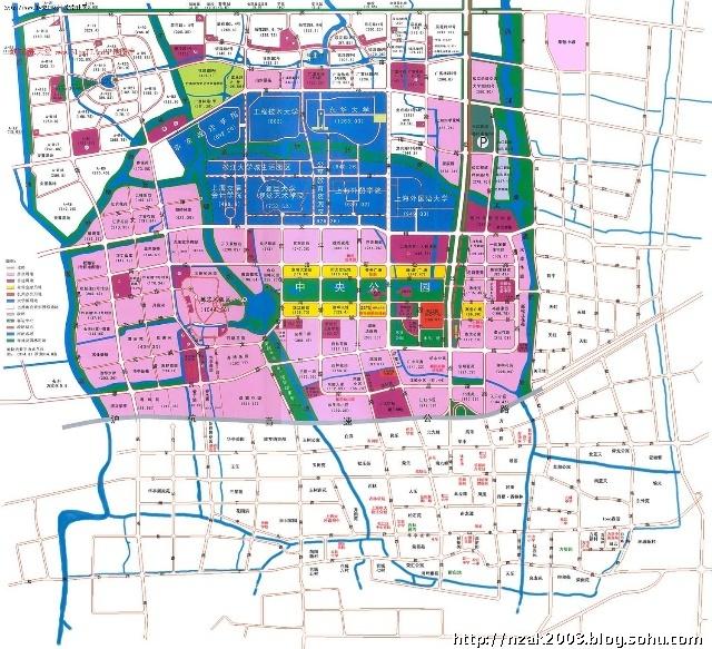 海市松江大学城地图 上海旅游地图.旅游地图