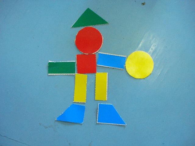 貼房子|兒童手工拼圖畫|幼兒園幾何圖形拼貼畫|一年級幾何圖形拼貼畫