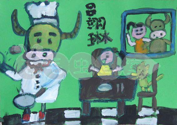 吕瑶博客_牛年画牛,牛气冲天油画棒篇-毛毛虫的画夹子-搜狐博客