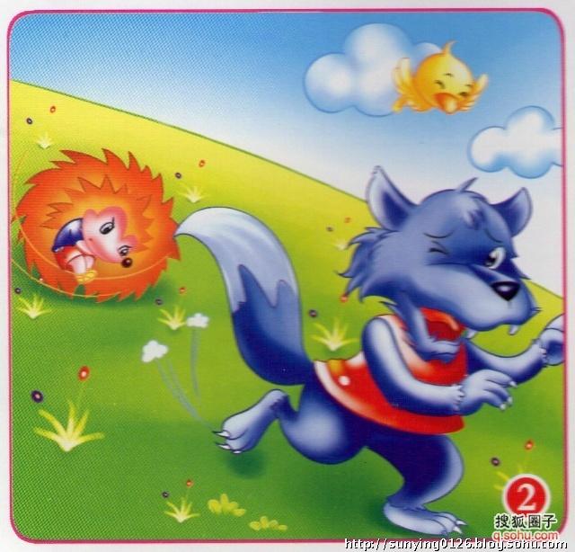 勇敢的小刺猬打跑了大灰狼,小动物