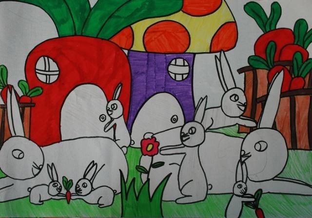 亲亲密密一家子范画-华清美术的炫彩空间的博客 我的搜狐图片