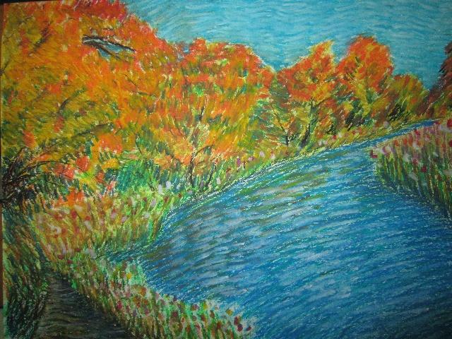 露西学画画|绘画教程及绘画作品,百合花彩铅绘画步骤,素描人物绘画图片