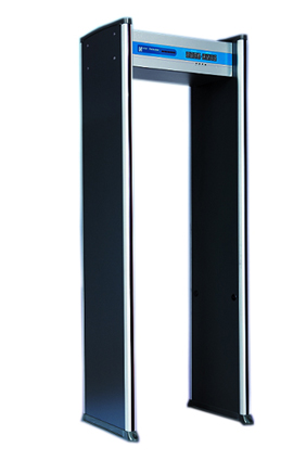 门状,门的两边柱子上安装了报警高亮度LED指示灯,采用铝合金