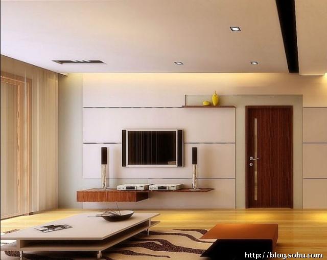 凹槽电视背景设计图