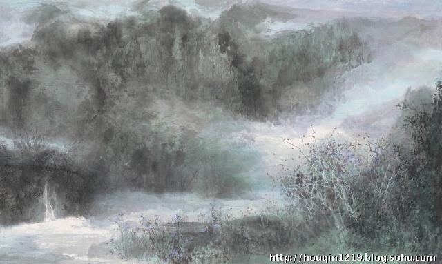 新手水彩画临摹山分享展示