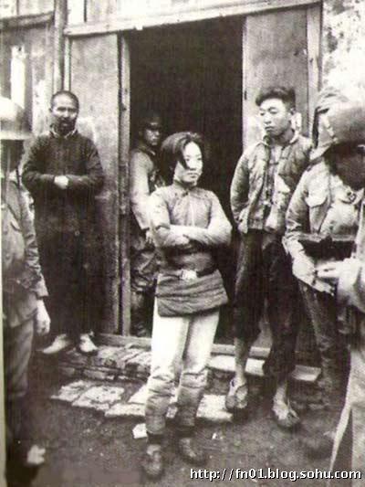 抗战中被日本人俘虏的中国女兵 组图图片