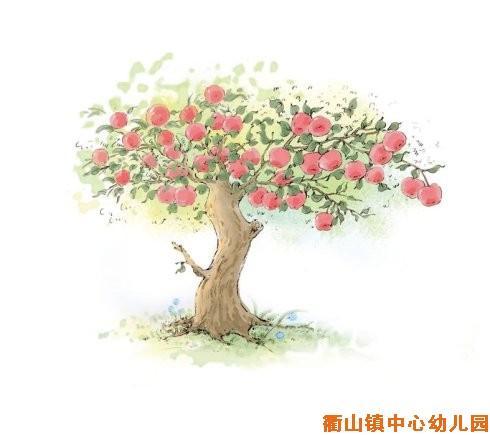 一颗苹果树简笔画_简笔画苹果树的画法