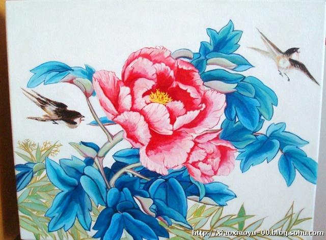 牡丹花的画画步骤图片