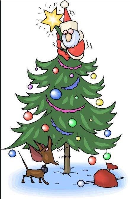 圣诞节的装饰物品简笔画