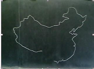 中国地图轮廓简笔画