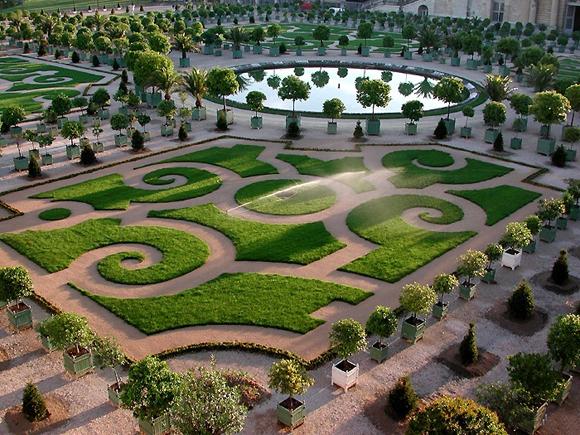 方形园林小游园花坛设计
