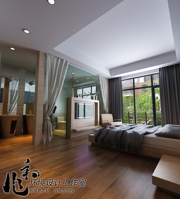 别墅设计作品:石家庄路劲蓝郡300多平米联排别墅简约风格装修设计方案