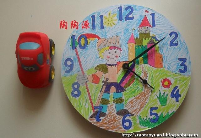 儿童手工制作创意钟面