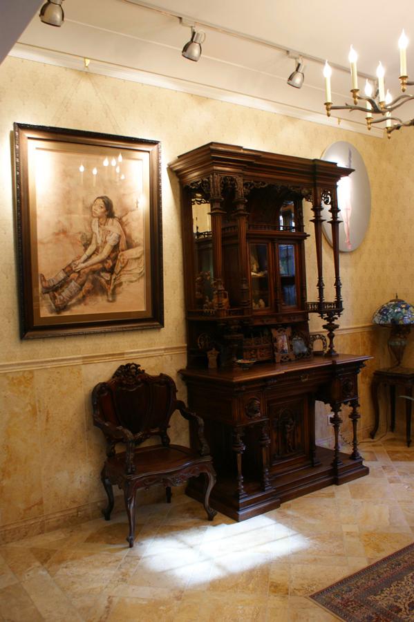 图:三言堂设计作品:某当代著名女画家的居所兼画室实景.