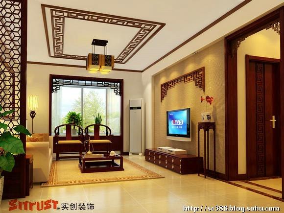 【原创设计】16w体现157㎡四居室中式的文化氛围和空间格调体现