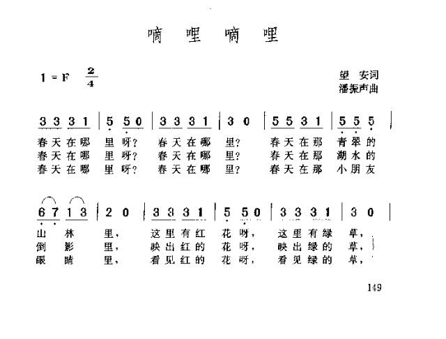 嘀哩嘀哩-曲谱歌谱大全-搜狐博客