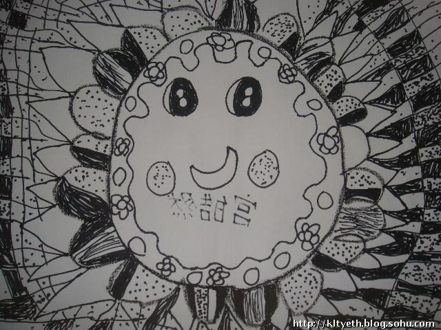 儿童黑白线条装饰画图片