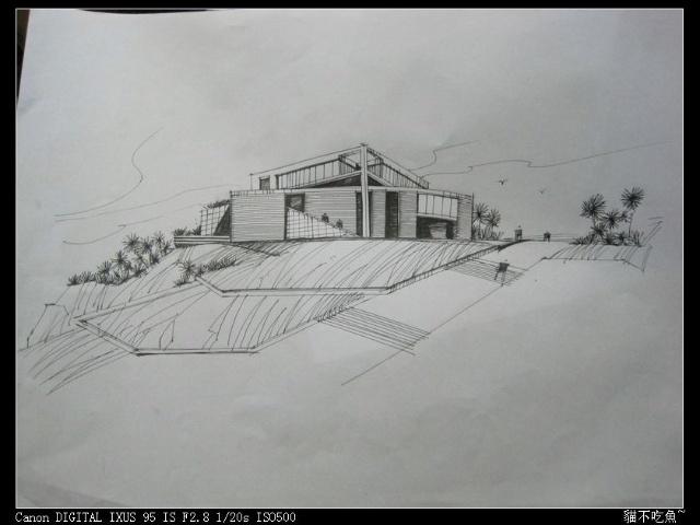 简易建筑钢笔画