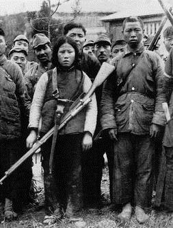 被日军俘虏的抗日女兵影像揭秘 组图图片