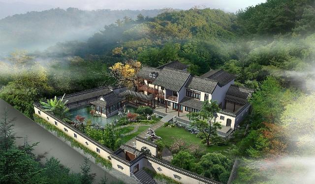 素材描述 古典园林 建筑设计 园林景观 建筑 设计 绿化 生