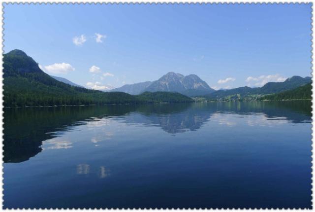湖边高山风景壁纸