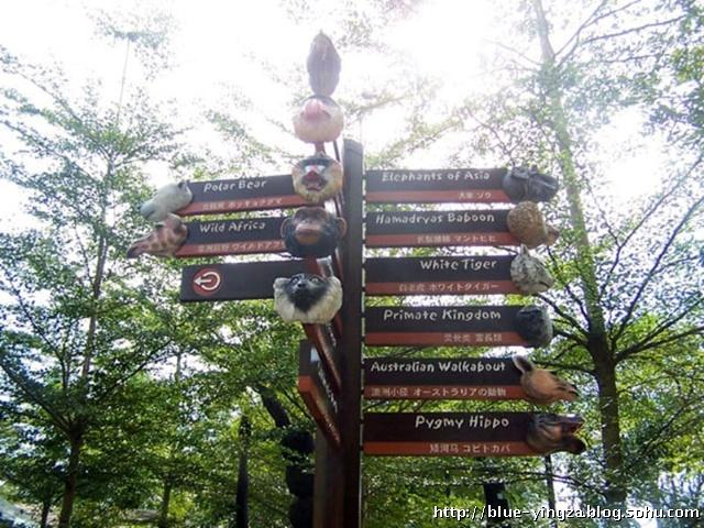 动物园的指路牌