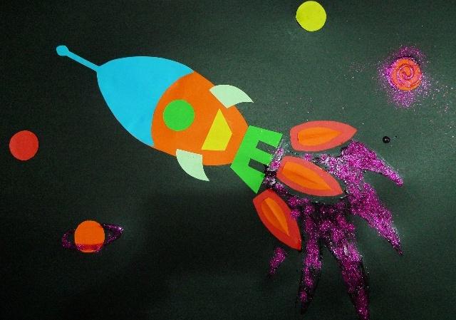宇宙太空素材儿童画