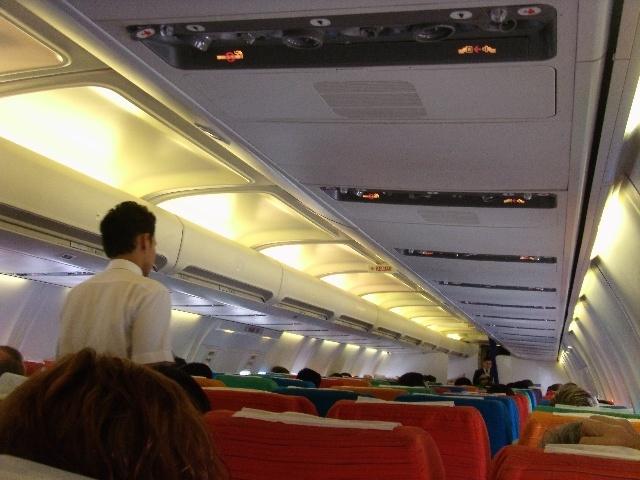 换完登机牌,把行李直接托运到北京.